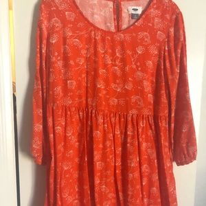 Orange dandelion dress